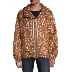 Printed Front-Zip Jacket