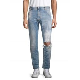 Krooley Distressed Tapered Jeans
