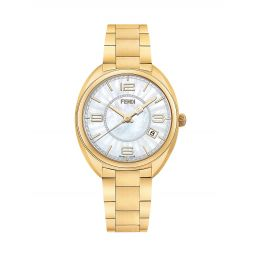 Momento Goldtone Stainless Steel & Mother-Of-Pearl Bracelet Watch