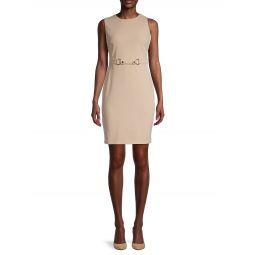Belted Knit Sheath Dress