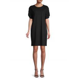Ally Puff-Sleeve Shift Dress