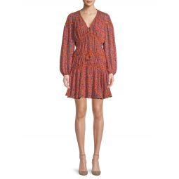 Caden Printed Long-Sleeve Dress