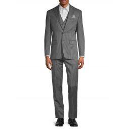 2-Piece Vested Stripe Suit