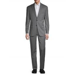Tonal Windowpane Check Wool Suit