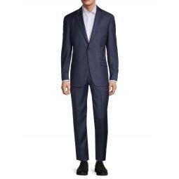 Tonal Check Wool Suit