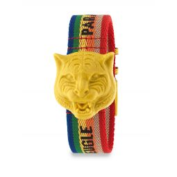 Resin Carved Tiger Nylon Strap Watch