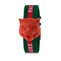 Resin Carved Tiger Nylon Strap Watch
