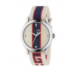 Stripe Textile-Strap Watch