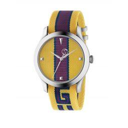 Stripe Textile Strap Watch