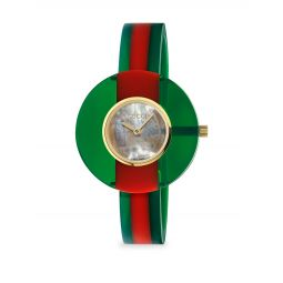 Vintage Web Resin 35MM Green Red Green Watch