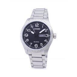 Eco Drive Stainless Steel Bracelet Watch