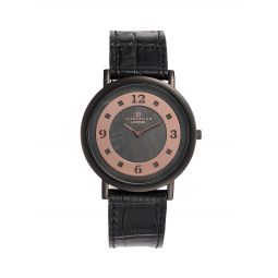 Stainless Steel & Leather-Strap Watch