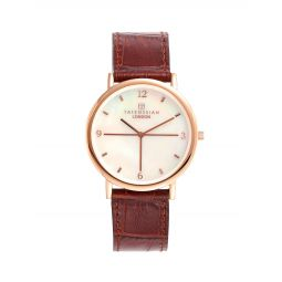 Stainless Steel & Leather Watch