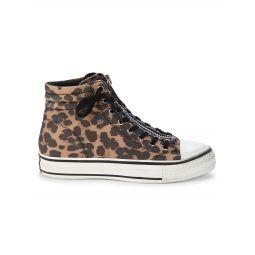 Grant Leopard-Print High-Top Sneakers