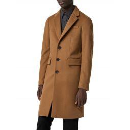 Halesowen Camel Single-Breasted Wool & Cashmere Overcoat