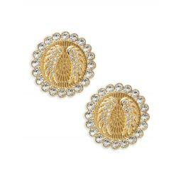 Lucky Goddess Swarovski Crystal Clip-On Earrings
