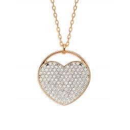 18K Rose Gold & Swarovski Crystal Pendant Necklace