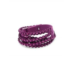 Swarovski Crystal & Felt Wrap Bracelet