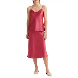 Trycia Satin Slip Skirt