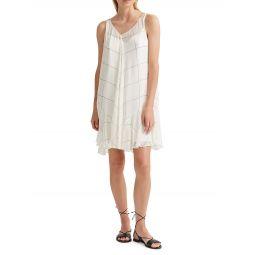 Windowpane Check Sleeveless Dress