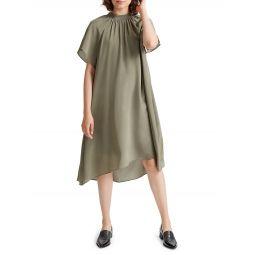 Silk Trapeze Dress