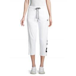Cropped Cotton-Blend Jogger Pants