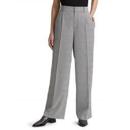 Microcheck Wide-Leg Pants