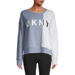 Colorblock Cotton-Blend Sweatshirt