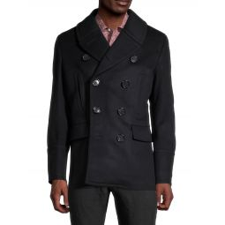 Double-Breasted Wool & Cashmere-Blend Jacket