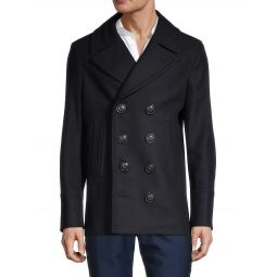 Double Breasted Wool & Cashmere-Blend Coat