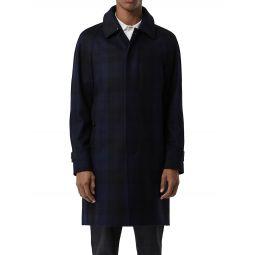 Plaid Cashmere Coat