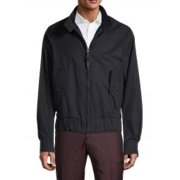 Raglan-Sleeve Cotton Jacket