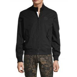 Stand-Collar Cotton-Blend Jacket