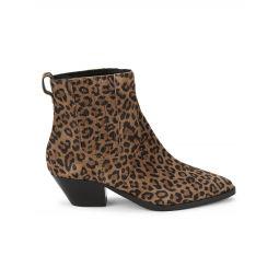 Future Leopard-Print Suede Booties