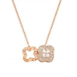 Admiration Swarovski Crystal Double Pendant Necklace