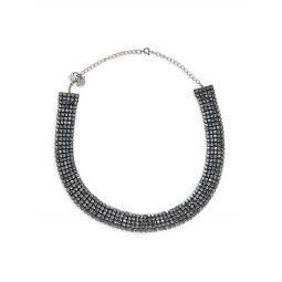 Rhodium-Plated & Swarovski Crystal Bangle Necklace