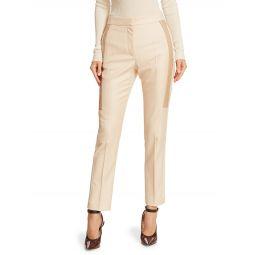 Wool & Silk Contrast Inset Pants