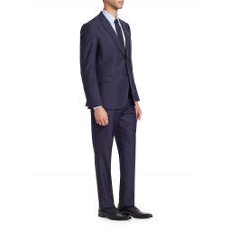 M Line Wool Fine Striped Suit