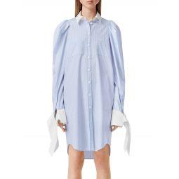 Pinstripe Shirtdress