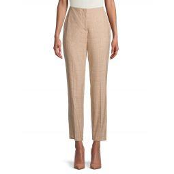 Simone Check Wool-Bend Pants