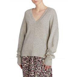 Amy V-Neck Stretch-Cashmere Knit Sweater