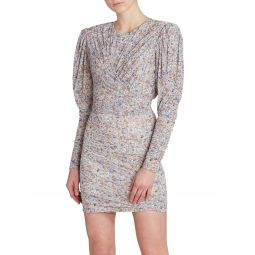 Ghita Draped Jersey Mini Dress