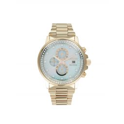 Eco-Drive Stainless Steel, Mother-Of-Pearl & Crystal Bracelet Watch