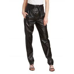 Duard Faux-Leather Drawstring Pants