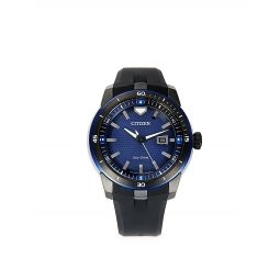 Stainless Steel Rubber-Strap Watch