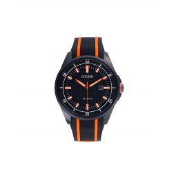 Eco-Drive Stainless Steel & Rubber-Strap Watch