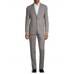 Textured Virgin Wool & Cashmere Suit