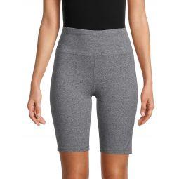 Heathered Biker Shorts
