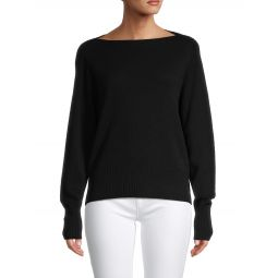 Boatneck Wool & Cashmere Sweater