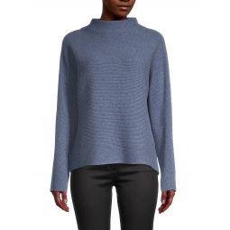 Rib-Knit Wool & Cashmere Sweater